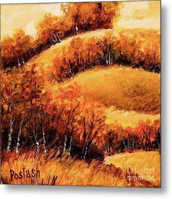 Metal Print featuring the painting Fall by Igor Postash