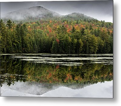 Fall Reflections In The Adirondack Mountains Metal Print by Brendan Reals