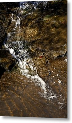 Metal Print featuring the photograph Fall Runoff At Broadwater Falls by Michael Dougherty