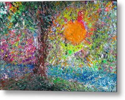 Metal Print featuring the painting Fall Sun by Jacqueline Athmann