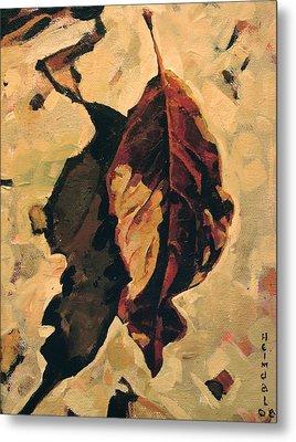 Fallen Leaf Metal Print by Tim  Heimdal