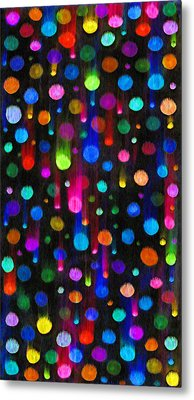 Falling Balls Of Color Metal Print by Carl Deaville