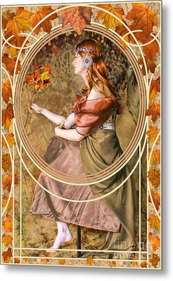 Falling Leaves Metal Print by John Edwards