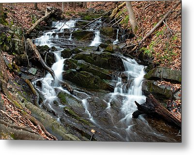 Falling Waters In February Metal Print by Jeff Severson