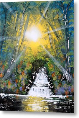 Metal Print featuring the painting Falls 05 by Greg Moores
