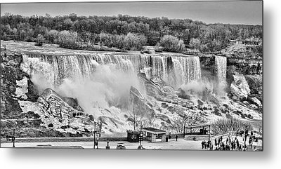 Metal Print featuring the photograph Falls Black And White by Traci Cottingham