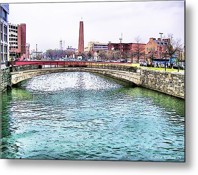 Metal Print featuring the photograph Fallswalk And Shot Tower by Brian Wallace