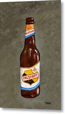 Falstaff Beer Bottle Metal Print by Elaine Hodges