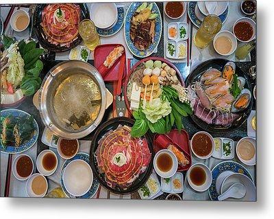 Family Marty With Sukiyaki Seafood And Beef Shabu Metal Print