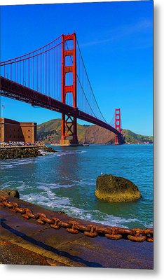 Famous Golden Gate Bridge Metal Print
