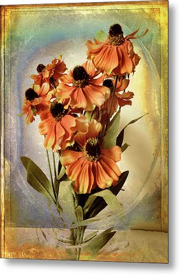 Fanciful Floral Metal Print