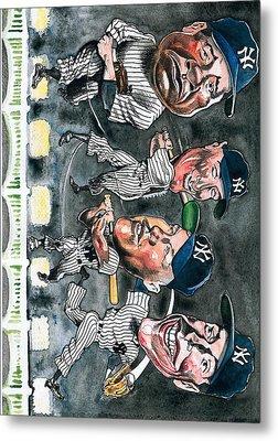 Farewell Yankee Stadium Metal Print by Robert  Myers