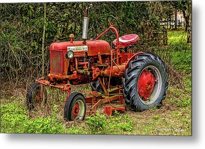 Metal Print featuring the photograph Farmall Cub by Christopher Holmes