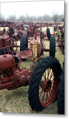 Farmers Racer Metal Print by Joy Tudor