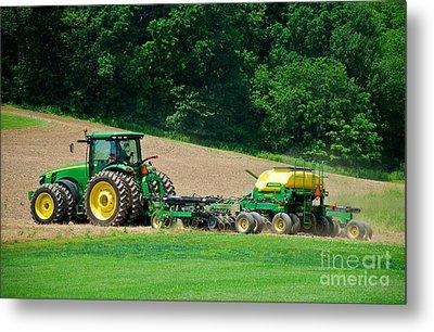 Farming The Field Metal Print by Mark Dodd