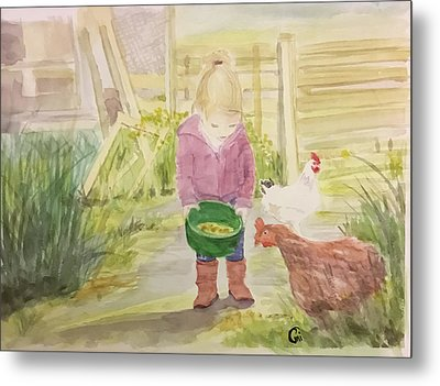 Farm's Life  Metal Print by Annie Poitras