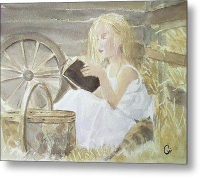 Farm's Reader Metal Print by Annie Poitras