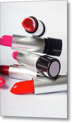 Fashion Model Lipstick Metal Print by Jorgo Photography - Wall Art Gallery