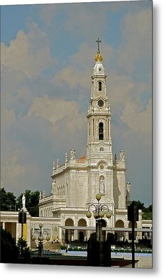Metal Print featuring the photograph Fatima Cathedral by Kirsten Giving