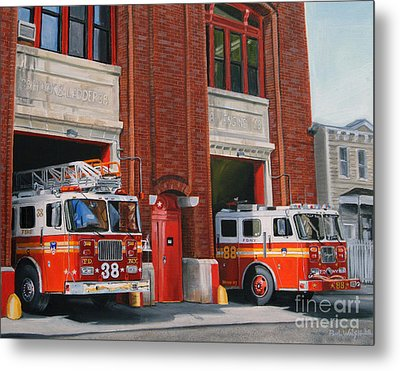Fdny Engine 88 And Ladder 38 Metal Print by Paul Walsh