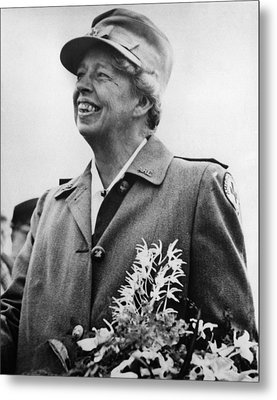 Fdr Presidency. Eleanor Roosevelt Metal Print