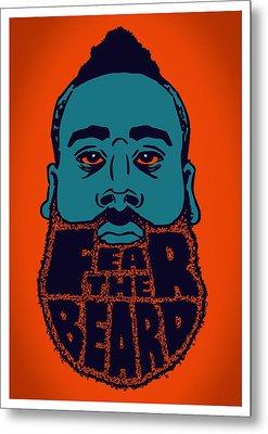 Fear The Beard Metal Print by Jack Perkins