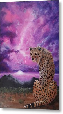Metal Print featuring the painting Fearless  by Christie Minalga