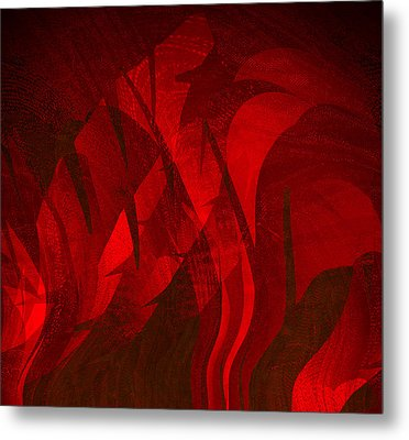 Feathers Metal Print by Eileen Shahbazian