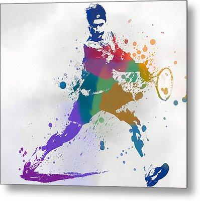 Federer Paint Splatter Metal Print