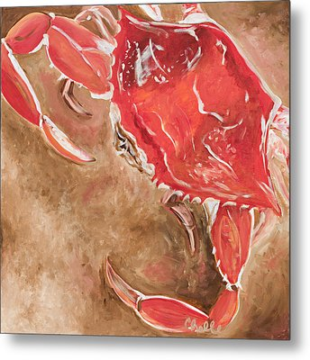 Feelin' Crabby Metal Print by Chelle Fazal