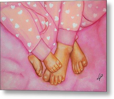 Feet Fete Metal Print by Joni McPherson
