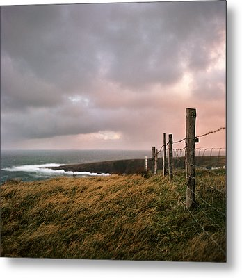Fence In Ireland Metal Print by Danielle D. Hughson