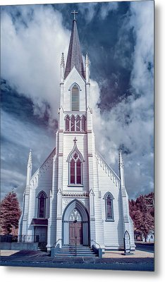 Ferndale Church In Infrared Metal Print by Greg Nyquist