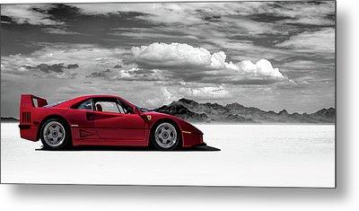 Ferrari F40 Metal Print
