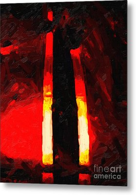 Ferrari Racing Abstract Metal Print by Wingsdomain Art and Photography