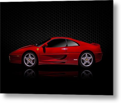 Ferrari Red - 355  F1 Berlinetto Metal Print by Douglas Pittman