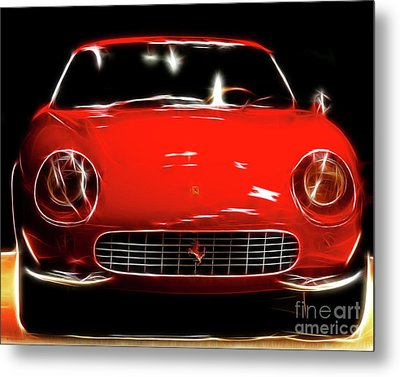 Ferrari Metal Print by Wingsdomain Art and Photography