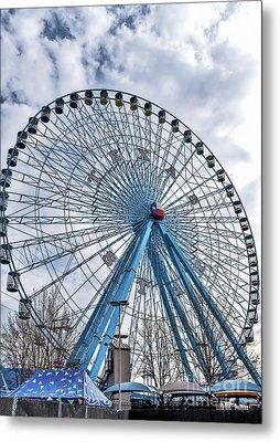 Ferris Wheel At Texas State Fair Metal Print