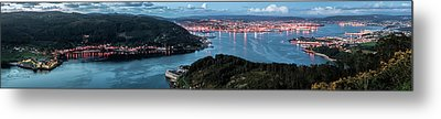 Ferrol's Estuary Panorama From La Bailadora Galicia Spain Metal Print