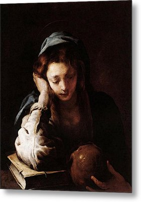Feti Domenico The Repentant St Mary Magdalene Metal Print