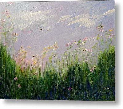 Field Of Bee's Metal Print by Sue Furrow