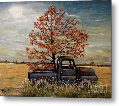 Field Ornaments Metal Print by Judy Kirouac