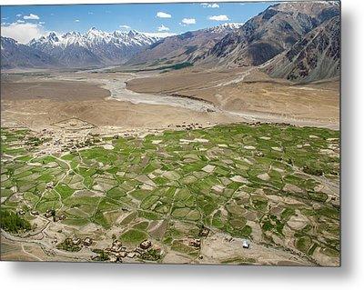 Metal Print featuring the photograph Fields Of Zangla, Zanskar, 2008 by Hitendra SINKAR