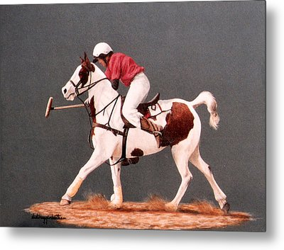 Metal Print featuring the painting Fierce Sparrow And Trainer by DiDi Higginbotham
