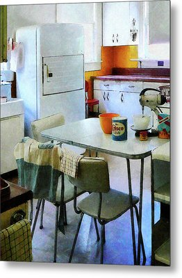 Fifties Kitchen Metal Print