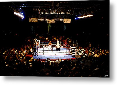 Fight Night Metal Print by David Lee Thompson