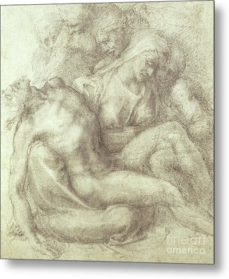 Figures Study For The Lamentation Over The Dead Christ, 1530 Metal Print