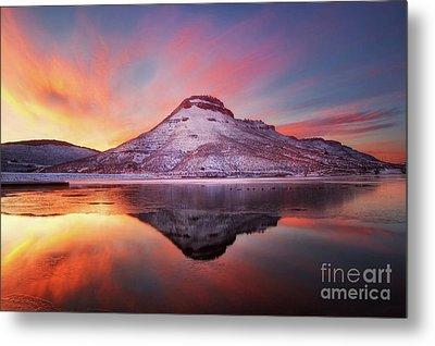 Fire And Ice - Flatiron Reservoir, Loveland Colorado Metal Print by Ronda Kimbrow