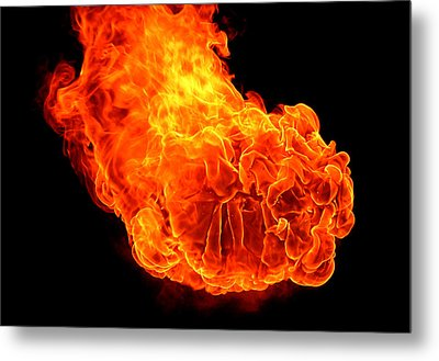 Fire Metal Print by Emanuel Tanjala