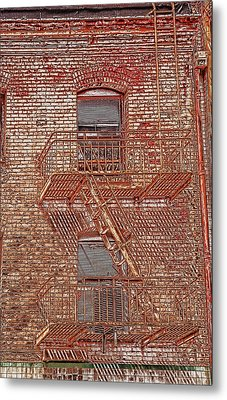 Metal Print featuring the photograph Fire Escape by Marie Leslie